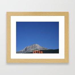 Chamonix hotel Framed Art Print