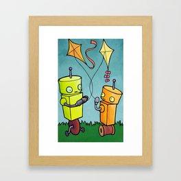 Robot - On A String Framed Art Print