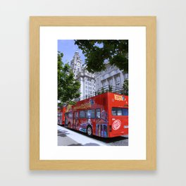 Tour Bus Framed Art Print