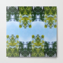 Forest pattern Metal Print