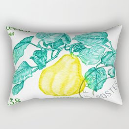 Branch of a Quince tree in Autumn Rectangular Pillow