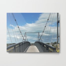 First Person Bridge View Metal Print