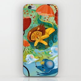 sleeping lion iPhone Skin