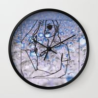 trippy Wall Clocks featuring trippy by Amanda Yeung