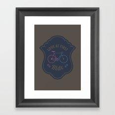 Love At First Ride Bike Framed Art Print