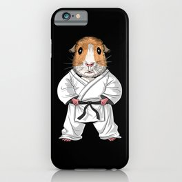 Guinea Pig Karate iPhone Case