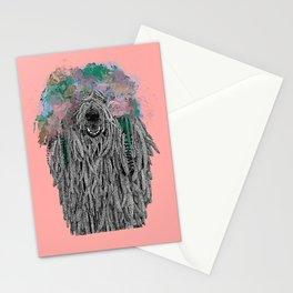 Dredlock Dog (Pastel Pink Edition) Stationery Cards