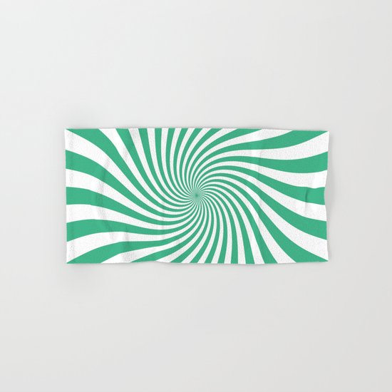 Swirl (Mint/White) Hand & Bath Towel