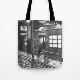 Warehouse music after work Tote Bag
