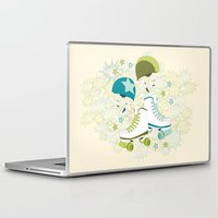 roller derby Laptop & iPad Skins featuring Roller Derby Rumble by Wild Notions
