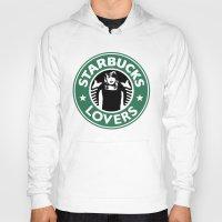 starbucks Hoodies featuring Starbucks Lovers by Renata Bernardes