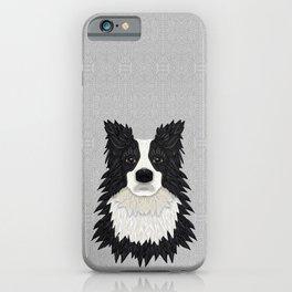 Black Border Collie iPhone Case