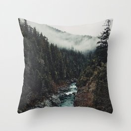 When the sky touch the wild Throw Pillow