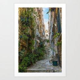 Stairs of Dubrovnik - Croatia Art Print