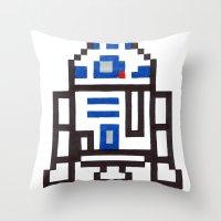 r2d2 Throw Pillows featuring r2d2 by Walter Melon