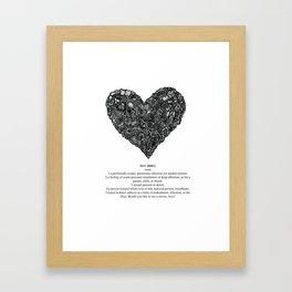 Complicated Love Framed Art Print