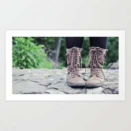 these boots were made for walking. Art Print