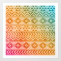 Aztec Pattern 02 by serigraphonart