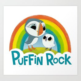 Puffin Rock Logo Art Print