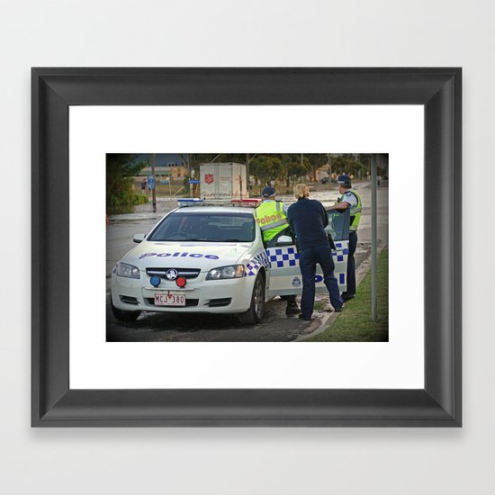 Didn't we just say no Entry? Framed Art Print