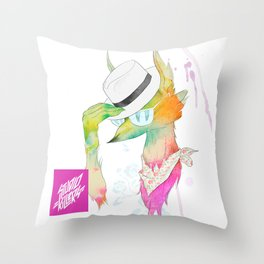 Rock the Floral Throw Pillow
