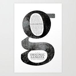O.G. Garamond Art Print