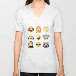 Nakama Emoji Design Unisex V-Neck
