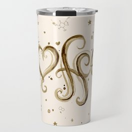 Coffee Molecules Caffeine Travel Mug