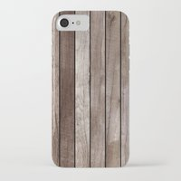 wooden iPhone & iPod Cases featuring Wooden Texture by Patterns and Textures
