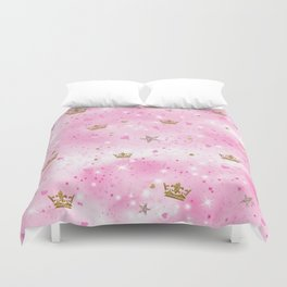 Pink Princess Duvet Cover