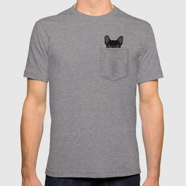 Pocket French Bulldog - Black T-shirt