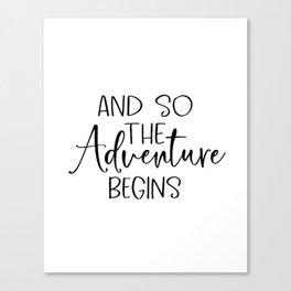 And So The Adventure Begins | Wood Sign | Adventure Wood Sign | Shiplap Sign | Farmhouse Decor | Mas Canvas Print