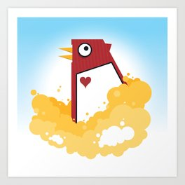 Big Chicken Art Print