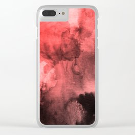 Colorful mix red black Clear iPhone Case