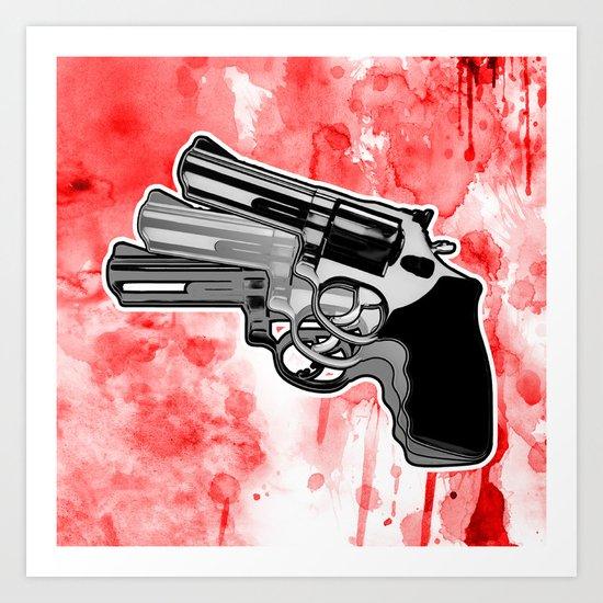 Triple Revolver (left) Art Print