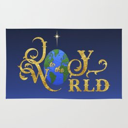 Joy to the World Golden Rug