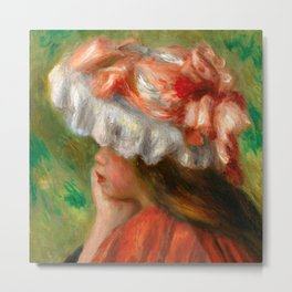 "Auguste Renoir ""Tête de jeune fille (Head of a young girl)"" Metal Print"