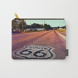 U.S. Route 66 highway, with sign on asphalt on Missouri. Carry-All Pouch