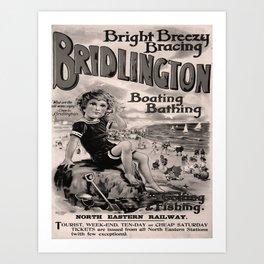 retro dark Bridlington old psoter Art Print
