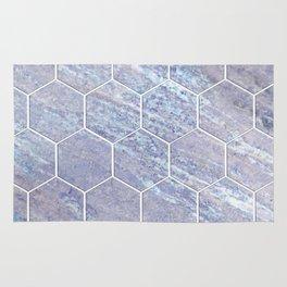 Botanico Porpora - purple marble hexagons Rug