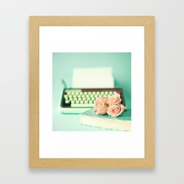 Typing With Love Framed Art Print