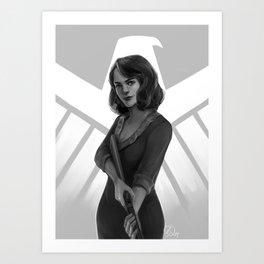 CA Agent Carter Art Print