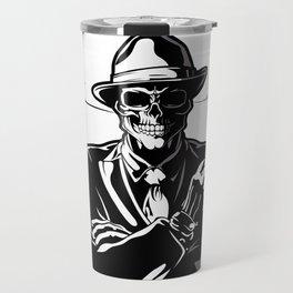gangster skull. Travel Mug