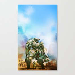 Beauty and the Thirty Ton Beast Canvas Print