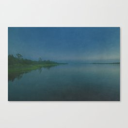 Cape Fear River Rolling on Past Just the Same Canvas Print