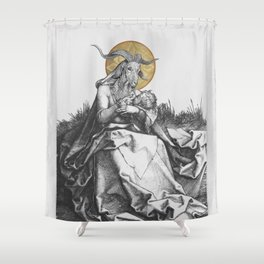 The Wet Nurse of the Woods Shower Curtain