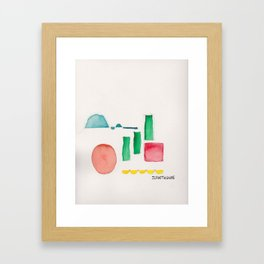 Shapes From Uncertainty and Poor Color Management 1 Framed Art Print
