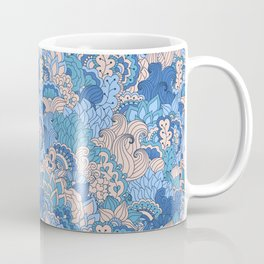Floral pattern in cold tones Coffee Mug