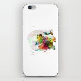 Bear painting iPhone Skin