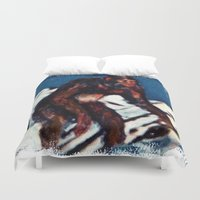 bigfoot Duvet Covers featuring Bigfoot is Real by Adam Metzner